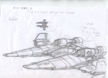 Venator Aircraft Work In Progress by chaos-sandwhich