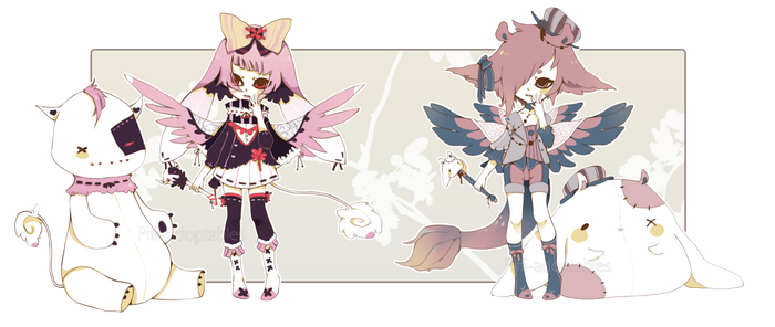 [CLOSED] ADOPT AUCTION 68 - Plushies Charmer by Piffi-sisters