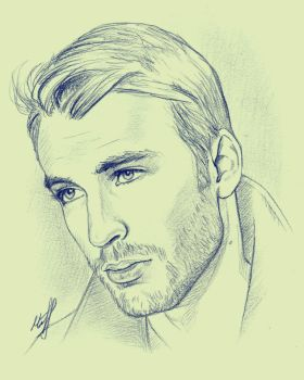 Chris Evans sketch by KseniaParetsky