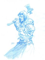 CONAN WITH AXE sketch by Darry