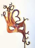 Leather Mask With Curls by teonova