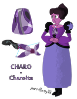 Steven Universe - Gem OC - Charo (Charoite) by partiallyBatty