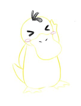 Pokemon Sketch request 03 - Psyduck by Azouie