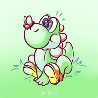 Yoshi (colored sketch) by Oomles