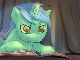 A little reading before sleep by bakki