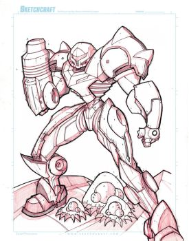 Commish 154 WIP 02 by RobDuenas