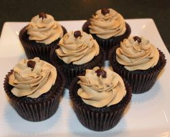 Chocolate Espresso Cupcakes by Deathbypuddle