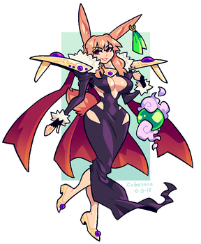 COMMISSION: Bunny Sorceress by Cubesona