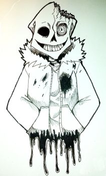 Ink October horror sans by Ashley-JaneW