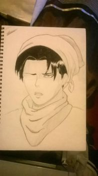 Cleaning Levi (WIP) by KoRJenny