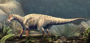 Iguanodon Bernissartensis Restored by TheDragonofDoom