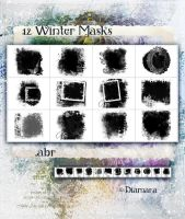 12 Winter Masks by Diamara