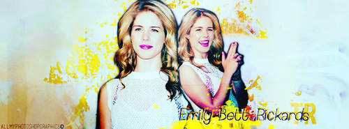 Request - Header for Emily Bett Rickards FB Page by chiaratippy