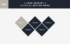 [07] Code Snippet - Diamond Button Menu by Gasara