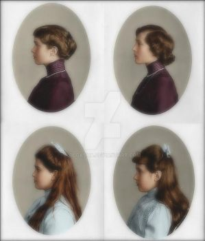 4 daughters of the Tsar by olgasha