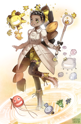 Microbe Magical Girl [Commission] by Shattered-Earth
