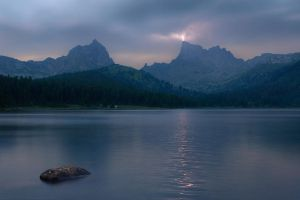 Thunder-storm in mountains by box426