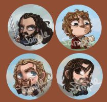 Hobbit Buttons by perishing-twinkie