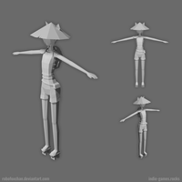 WIP female character for 'world_null' game by RoboFoxChan