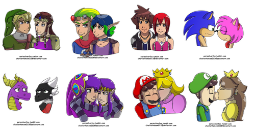 Favorite Videogame Couples by charliethemew012