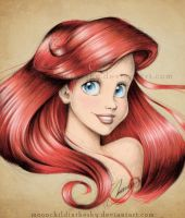 Ariel Portrait Color by MoonchildinTheSky