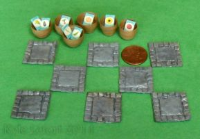 Miniature Gray Stepping Stone Garden Set by Kyle-Lefort