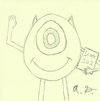 Mike Wazowski Sketch by Ponkool4
