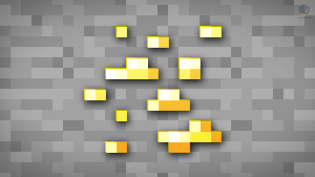 MineCraft Shaded Gold Ore Wallpaper by ChrisL21