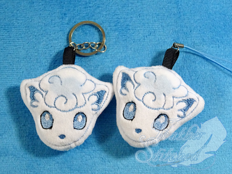 Alola Vulpix Soft Charms by FeatherStitched