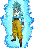 Goku Super Saiyan 4 Blue by HazeelArt