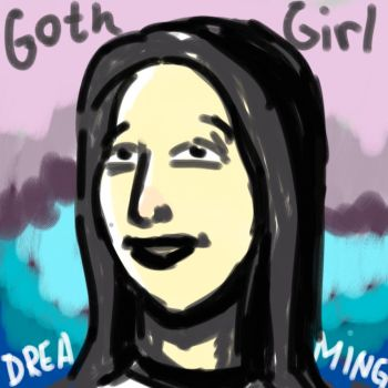 Goth Girl Dreaming by Oldquaker