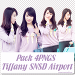 Pack 4PNGS Tiffany SNSD Airport by hwangjungmina