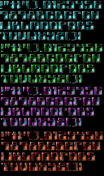 TheDraw TDF ANSI Font - Font 54 by roy-sac