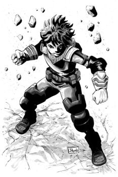 Inktober Day 1: Deku by Shono