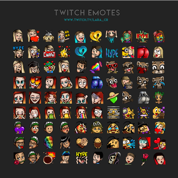 Twitch Emotes by lara-cr