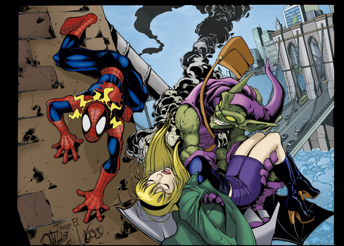 Death of Gwen Stacy by ThiagoBColors