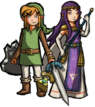 ALBW Toon Link and Hilda by Zeepla