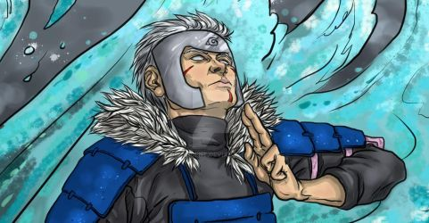 Tobirama (full color, detail) by Oruescent