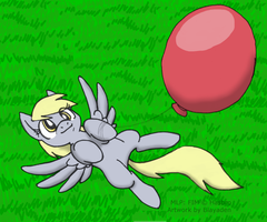 Derpy Balloon by Blayaden