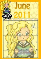 HP Chibi Calendar - June by SusiKISS