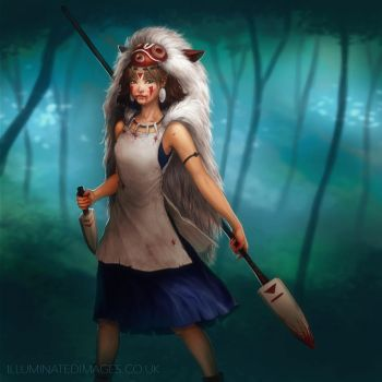 Princess Mononoke - Fanart by me-illuminated