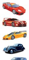 - 7 Vector Cars by outthere