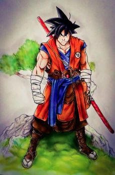 Son Goku by Grimchease