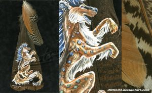 Tsume - Feather Painting by dittin03