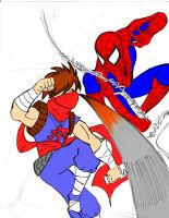 Spiderman vs Strider Hiryu by MasterSoundwave