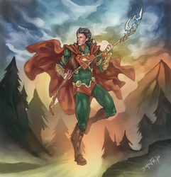 Loki + Superman by JomanMercado
