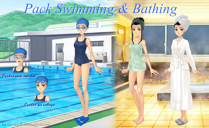 Amor Doce - Pack Swimming and Bathing by moonjell