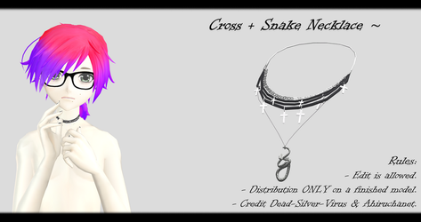 [MMD] Cross Snake Necklace DL ~ by o-DSV-o