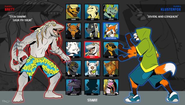 PLAYER SELECT by grungepuppy