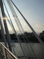 It is Hungerford Bridge by Curri-chan